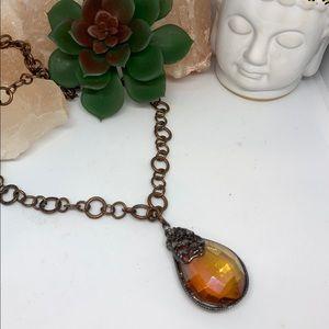 🦉SALE 3/$33 or 5/$50 Gold teardrop gem necklace